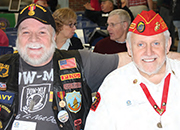 Gerard Pageau, US Navy Sonar Technician and Gary Gahan, US Marines, Field Radio Operator both served in Vietnam.