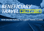 Beneficiary Travel 24-7-365. New Online Portal to Submit Travel Claims